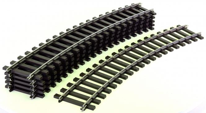 Märklin 59230 (Spur 1) – 6 x gebogenes Gleis 30°, Radius 760 mm