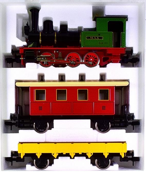 Märklin Maxi 5440 (Spur 1) – Pers./Güterzug mit Dampflok Max, digital & Rauch