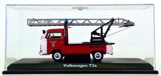 Schuco 03341 (1:43) – VW T2a -Freiwillige Feuerwehr Albig- mit Drehleiter