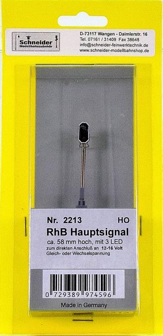 Schneider 2213 - Hauptsignal der RhB, Höhe 58 mm, 3 LEDs