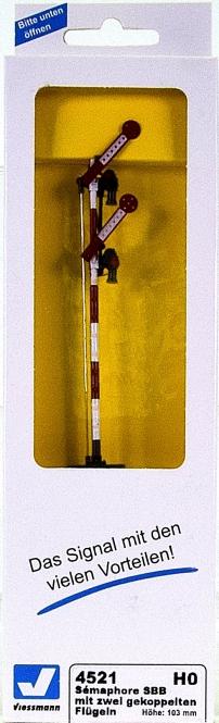Viessmann 4501 – Form-Hauptsignal zweiflügelig (gekoppelt) Hp0, Hp2