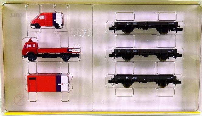 Minitrix 15626 – 3-teiliges Gleisbau-Wagenset Strukton der NS