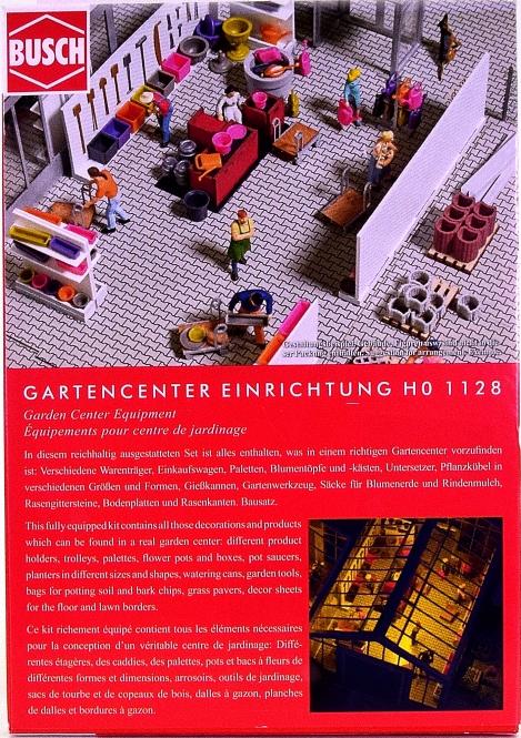 Busch 1128 – Bausatz Gartencenter Einrichtung