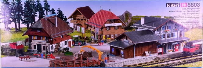 Kibri 8803 – Bausatz Bergheimat mit Bahnhof