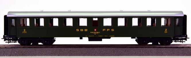 Roco 44200A – RIC-Stahl-Personenwagen 2.Kl. der SBB