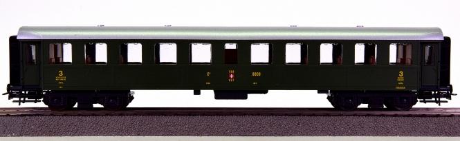 Roco 44200B – RIC-Stahl-Personenwagen 3.Kl. der SBB