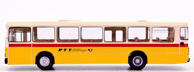 Brekina 95097 (1:87) – Stadt-Linienbus MB O 305 der PTT, mit Anhänger