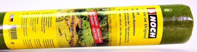 Noch 00011  - Geländematte, Blumenwiesen-Grasmatte 200 x 100 cm