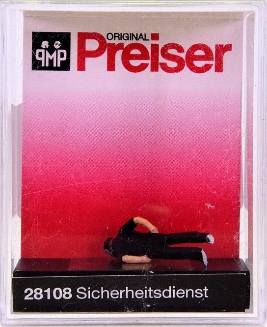Preiser 28108 (H0) - Sicherheitsdienst / Securizy man
