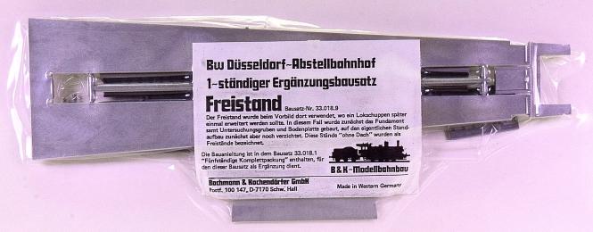 B&K 33.018.9 (H0) – Bausatz Freistand, 1-ständige Ergänzung Bw Düsseldorf
