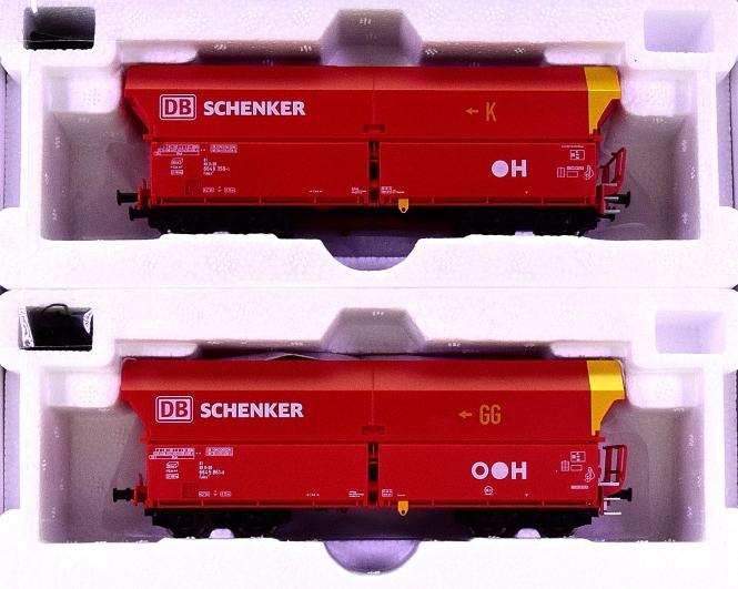 Mehano 58869 – 2-teiliges Set Schüttgutwagen Falns 121 der DB Schenker