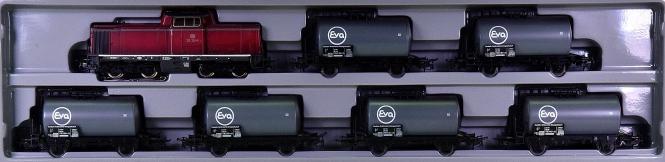 Märklin 2855 – 7-tlg. EVA-Kesselwagen-Set mit Diesellok BR 212 der DB