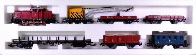 Märklin 2853 – 7-teiliger Gleisbauzug mit Diesellok BR 260 der DB