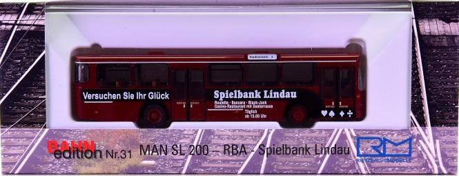 Rietze 72312 (1:87) - MAN SL 200 -RBA - Spielbank Lindau-