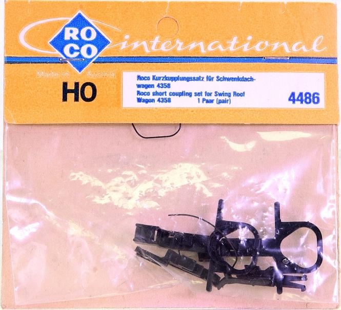 Roco 4486 (H0) – Kurzkupplungs-Satz für Schwenkdachwagen 4358