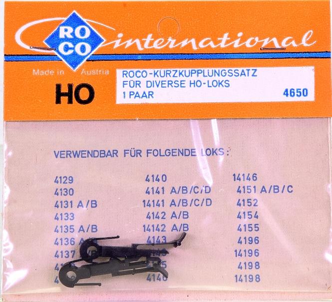 Roco 4650 (H0) – Kurzkupplungs-Satz für diverse Loks