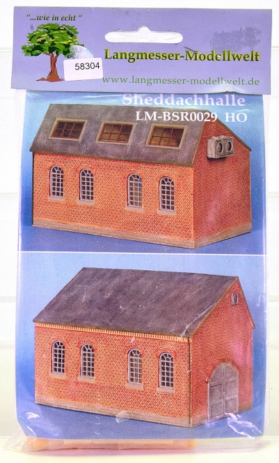 Langmesser Modellwelt BSR0029 (H0) – Bausatz Sheddachhalle