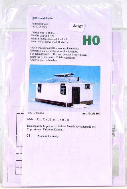 Luetke Modellbahn 54507 (H0) – Bausatz WC-Gebäude