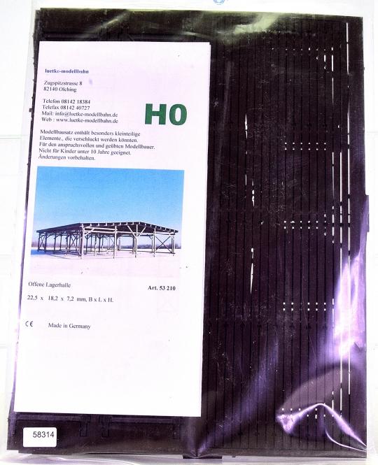 Luetke Modellbahn 53210 (H0) – Bausatz Offene Lagerhalle