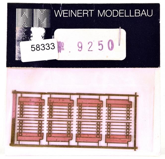 Weinert 9250 (H0) – Zurüstsatz Scherengitter Roco-Donnerbüchsen (für 2 Wagen)