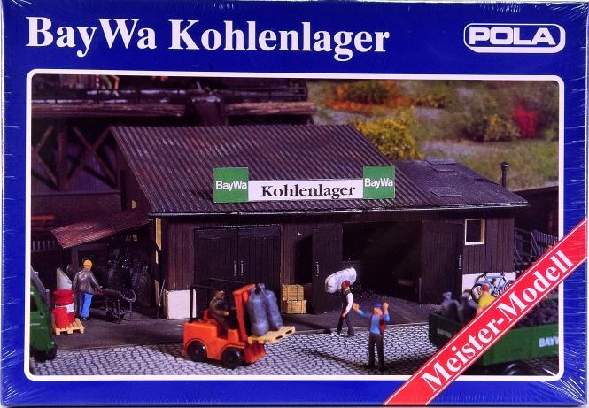 Pola 847 (H0) – Bausatz BayWa Kohlenlager, Meister-Modell
