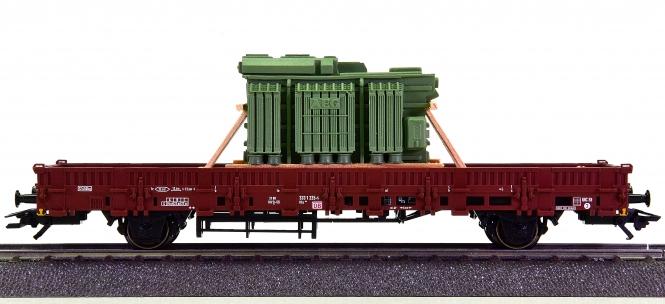 Märklin 46963 – Rungenwagen Kbs 443 der DB AG, beladen mit einem Transformator