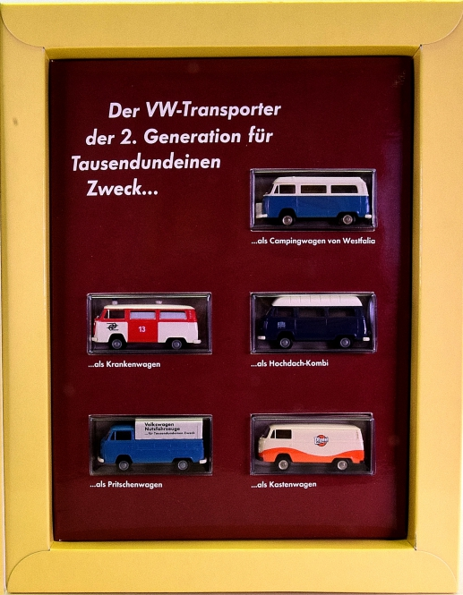 Brekina 9033 (1:87) – Sammler-Schatz 3, 5 VW Transporter T2 + Sammlerheft