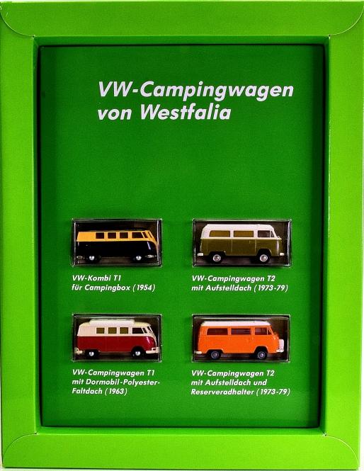 Brekina 9028 (1:87) – 4er-Set der VW-Campingwagen von Westfalia