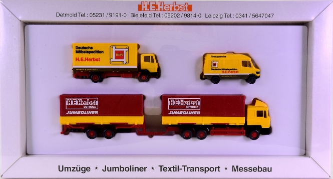 Wiking (1:87) – 3-teiliges Set -DMS H.E. Herbst-