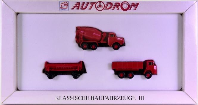 Wiking 99016 (1:87) – Klassische Baufahrzeuge III, Autodrom-Serie