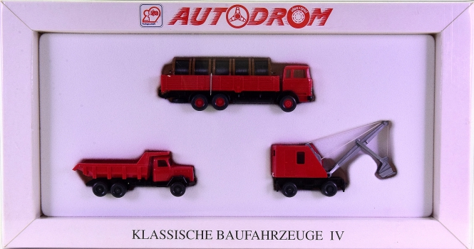 Wiking 99017 (1:87) – Klassische Baufahrzeuge IV, Autodrom-Serie