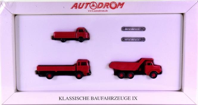 Wiking 99035 (1:87) – Klassische Baufahrzeuge IX, Autodrom-Serie