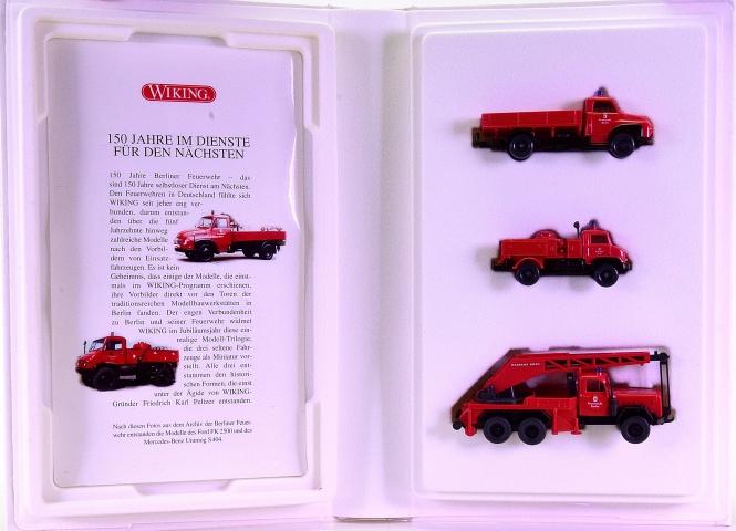 Wiking 990 21 58 (1:87) – 3-teiliges Set -150 Jahre Berliner Feuerwehr-