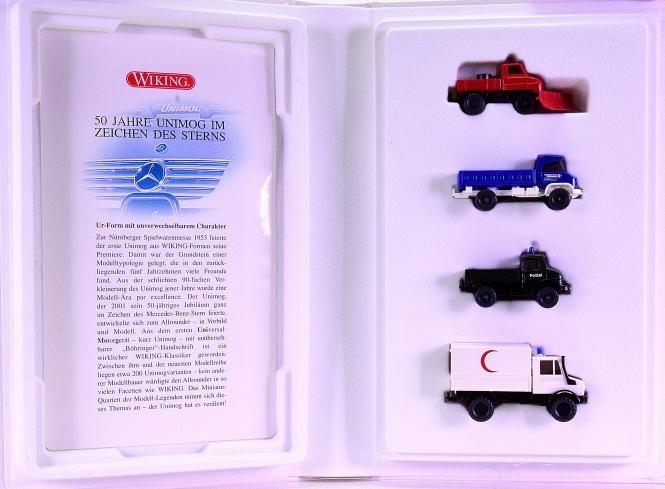 Wiking 990 24 58 (1:87) – 4-teiliges Set -50 Jahre Unimog-