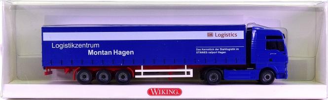 Wiking 05370546 (1:87) – MAN TGX Gardinenplanen-Sattelzug -DB Logistics-