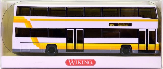 Wiking 07311140 (1:87) – Doppeldeckbus D 89 -Linie 69E Reichtstag-