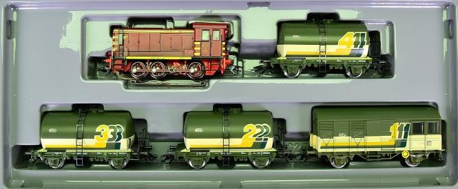 Märklin 2846 – 5-teiliger Gleis-Reinigungs-Zug der CFL, mit Rangierlok V 36