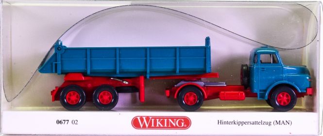 Wiking 067702 (1:87) – MAN Hinterkippersattelzug