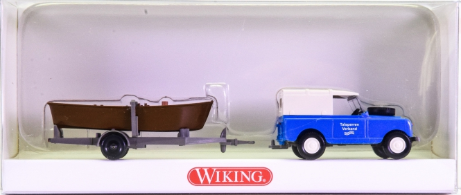 Wiking 08943834 (1:87) – Land Rover mit Ruderboot