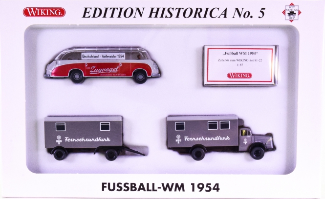 Wiking / PMS 81-22 (1:87) – Fussball WM 1954, Edition Historica No. 5