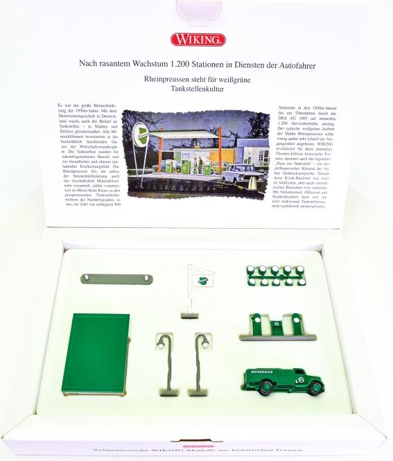 Wiking 099077 (1:87) – Rheinpreussen-Tankstelle der 1950er-Jahre