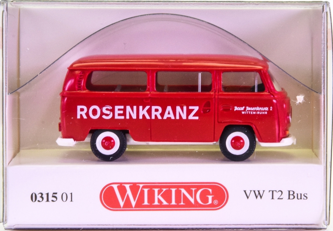 Wiking 031501 (1:87) – VW T2 Bus -Rosenkranz-
