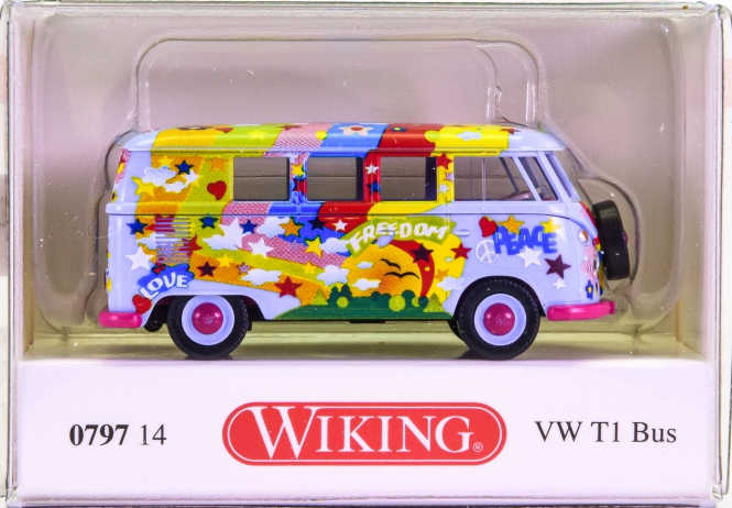 Wiking 079714 (1:87) – VW T1 Bus -Love, Freedom, Peace-