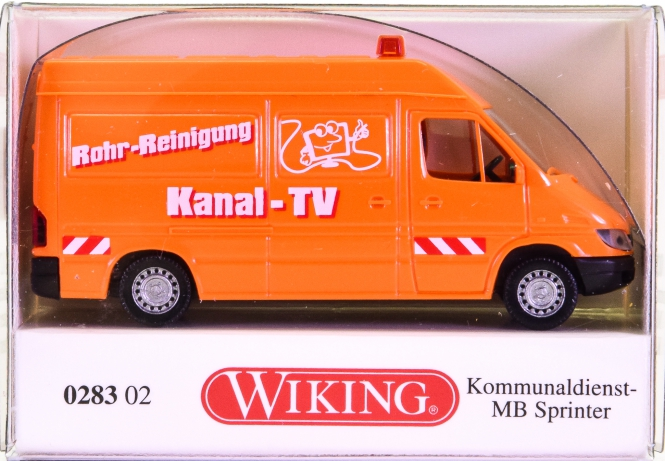 Wiking 028302 (1:87) – Mercedes-Benz Sprinter Kastenwagen -Kommunaldienst-