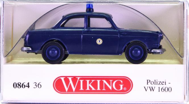 Wiking 086436 (1:87) – VW 1600 Limousine Polizei