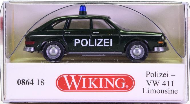 Wiking 086418 (1:87) – VW 411 Limousine Polizei