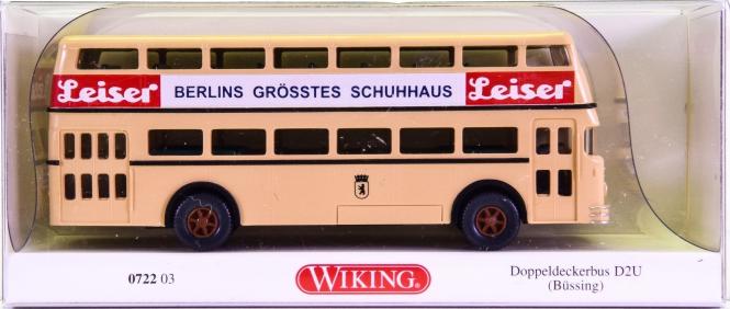 Wiking 072203 (1:87) – Büssing D2U Doppeldeckerbus -Leiser-