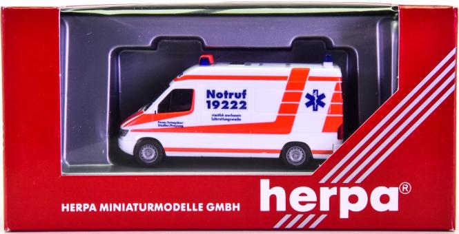 Herpa 044011 (1:87) – Mercedes-Benz Sprinter RTW