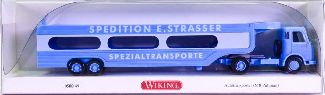 Wiking 058049 (1:87) – Mercedes-Benz Pullmann Autotransporter -Spedition E.Strasser-