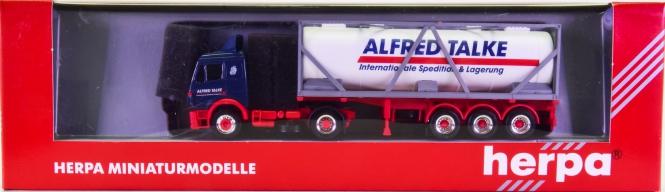 Herpa 143004 (1:87) – Mercedes-Benz Tankcontainer-Sattelzug -Alfred Talke-